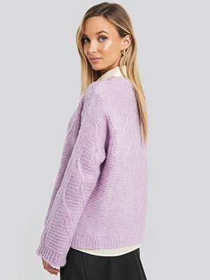 Trendyol Knit Detail Sweater lila