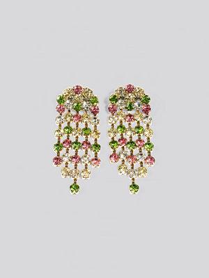 NA-KD Accessories smycke Big Rainbow Rhinestone Earrings multicolor