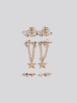 NA-KD Accessories smycke 3-Pack Mini Star Earrings guld