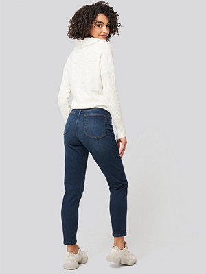 NA-KD Distressed Mom Jeans blå