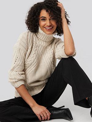 Trendyol Turtleneck Sleeve Detailed Knitted Sweater beige