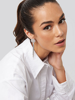NA-KD Accessories smycke Drop Chain Circle Earrings silver