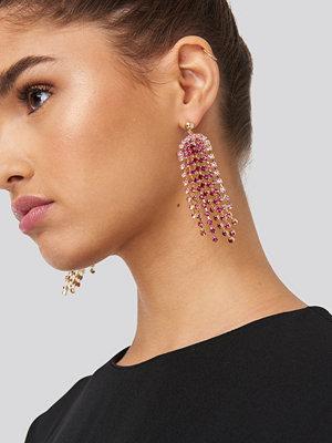 NA-KD Accessories smycke Pink Rhinestone Drop Earrings rosa