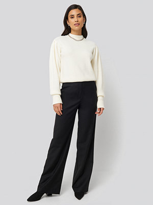 NA-KD by YOU svarta byxor Prague Pants svart