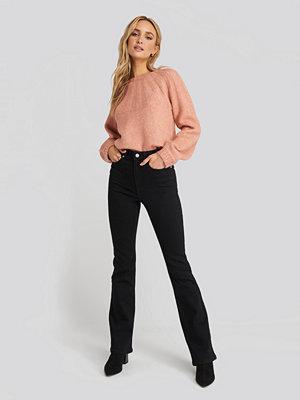 NA-KD Skinny Bootcut Jeans svart