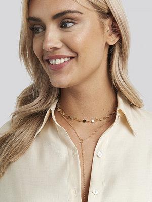 NA-KD Accessories smycke Drop Chain Mini Plate Necklace