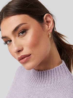 NA-KD Accessories smycke Double Pack Small Chunky Hoops guld