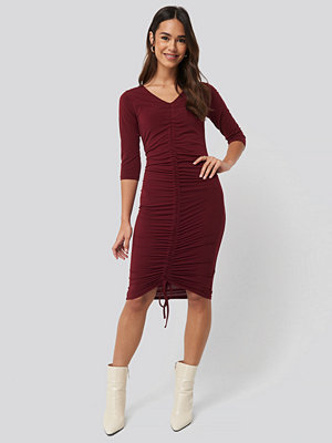 NA-KD Pull String Dress röd