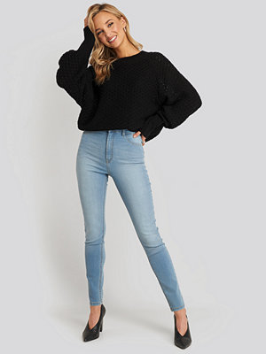 NA-KD Fake Pocket Skinny Jeans blå