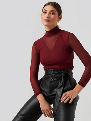 Trendyol Transparent Knitted Blouse röd