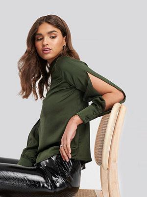 Trendyol Cut Out Sleeve Blouse grön