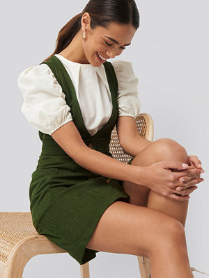 Trendyol Buttoned Gilet Mini Dress grön
