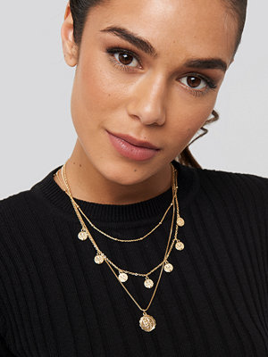 NA-KD Accessories smycke Coins Necklace guld