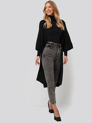 Cardigans - NA-KD Trend Short Sleeve Heavy Knitted Cardigan svart
