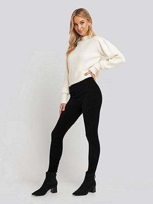 Trendyol Corduroy Knitted Tights svart
