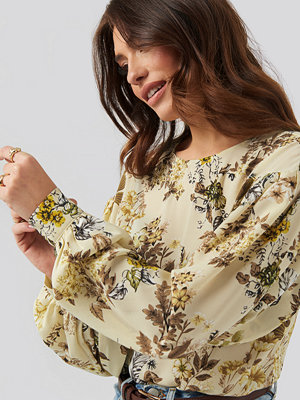 NA-KD Big Sleeve Blouse multicolor