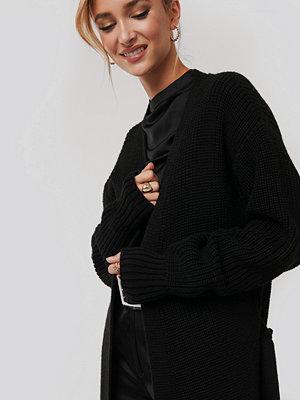 NA-KD Belted Maxi Cardigan svart