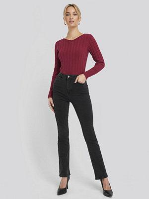 NA-KD Recycled Split Hem Skinny Jeans svart