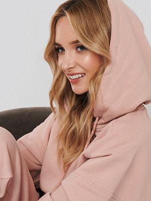 NA-KD Half Sleeve Cropped Hoodie rosa