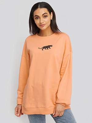 NA-KD Panther Sweatshirt orange