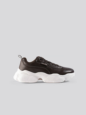 NA-KD Shoes Flag Logo Chunky Trainers brun