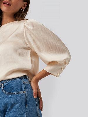 NA-KD Puff Sleeve Blouse beige