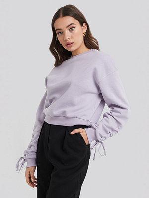 NA-KD Tie Sleeve Sweatshirt lila