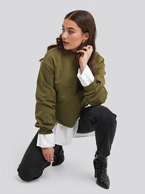 NA-KD Cropped Sweatshirt grön