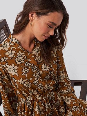 NA-KD Shirt Collar Midi Dress multicolor