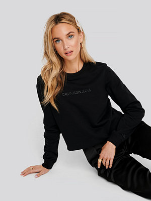 Calvin Klein Institutional Regular Crew Neck Sweater svart
