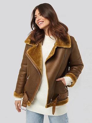 NA-KD Trend Bonded Aviator Jacket brun
