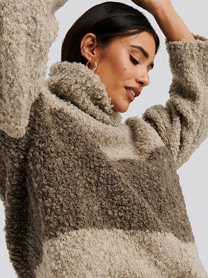 Trendyol Color Blocked Turtleneck Sweater multicolor