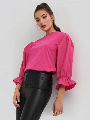 NA-KD Boho Big Sleeve Top rosa