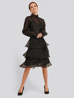 Kjolar - Trendyol Ruffle Detail Skirt svart