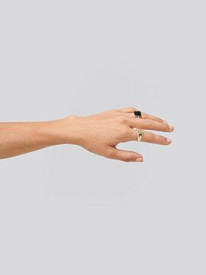 Erica Kvam x NA-KD smycke 2-pack Signet Rings guld