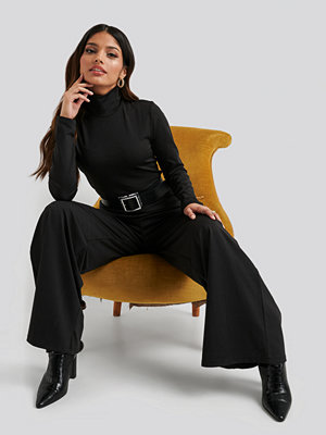 NA-KD Turtle Neck Long Sleeve Jersey Jumpsuit svart