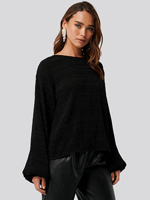 NA-KD Trend Structured Glittery Top svart