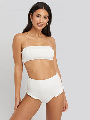 NA-KD Swimwear Wide Ribbed Maxi Higwaist Panty vit
