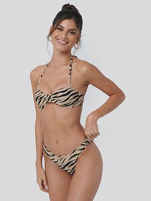 NA-KD Swimwear Side Knot High Cut Bikini multicolor