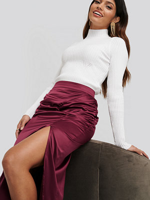 NA-KD Side Split Ribbed Sweater vit