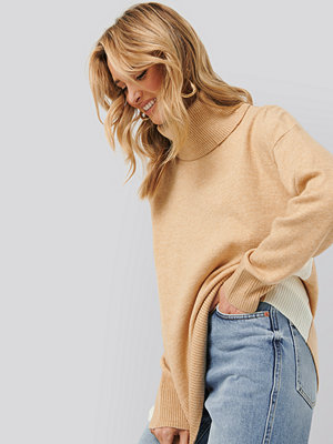 Mango Blocked Sweater brun