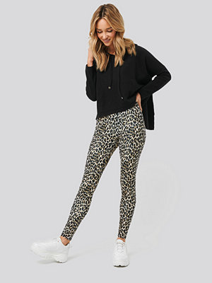 NA-KD Leopard Print Leggings multicolor