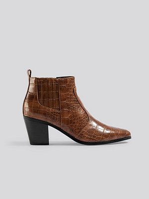 Mango Dorado Ankle Boots brun