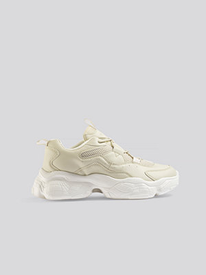 NA-KD Shoes Loop Lacing Structured Trainers beige