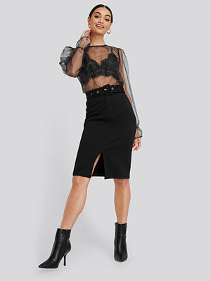 NA-KD High Waist Pencil Skirt svart