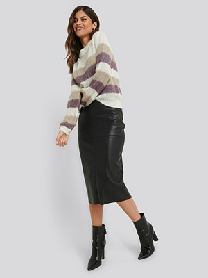 Kjolar - NA-KD Trend Midi PU Skirt svart