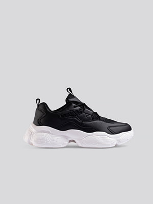 NA-KD Shoes Loop Lacing Structured Trainers svart
