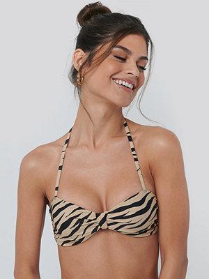 NA-KD Swimwear Knot Bikini Bandeau Top multicolor
