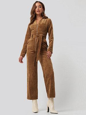 Trendyol Velvet Jumpsuit brun