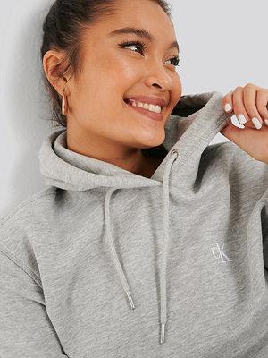 Calvin Klein Embroidery Hoodie grå